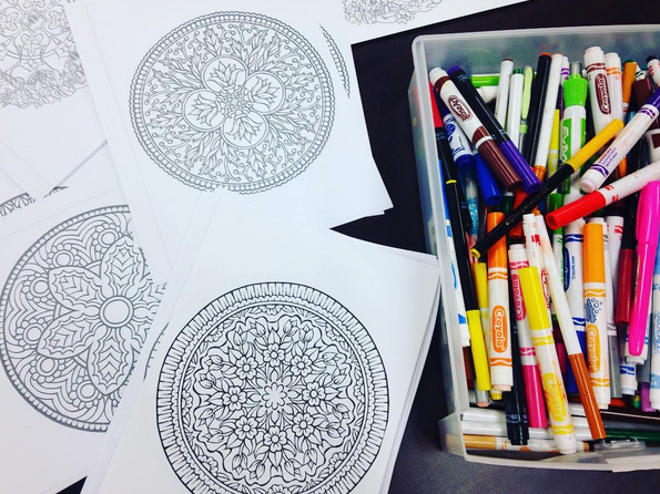 We have great coloring pages for our self-care series!